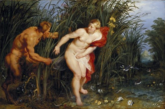 Peter Paul Rubens Pan and Syrinx, 1617 Oil on panel 40 x 61 cm Staatliche Museen, Kassel Photo Ute Brunzel