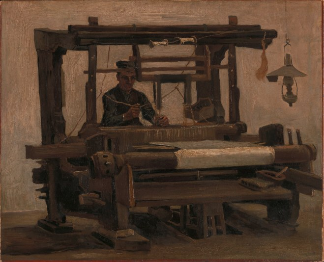 Vincent van Gogh Weefgetouw met wever 1884 Olieverf op doek 68,3 x 84,2 cm Coll Kröller-Müller Museum Otterlo inv. KM 107.755 © Stichting Kröller-Müller Museum