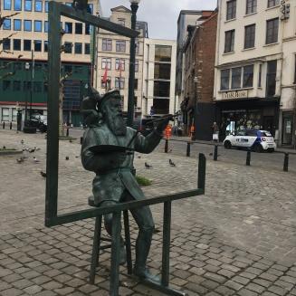 Bruegel standbeeld Brussel
